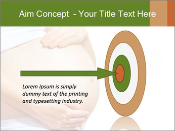Woman With Big Pregnant Belly PowerPoint Templates - Slide 83