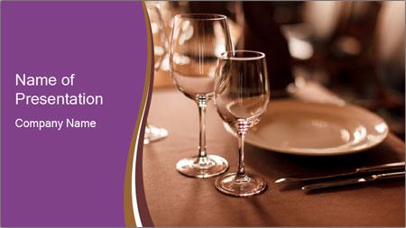 Restaurant Table PowerPoint Template