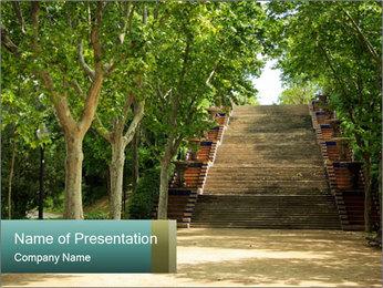 Urban Green Park PowerPoint Templates - Slide 1