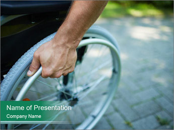 New Wheelchair PowerPoint Template