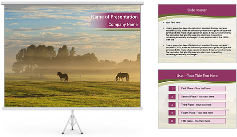 Holland Landscape PowerPoint Template