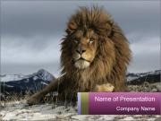 Lonely Lion PowerPoint Template