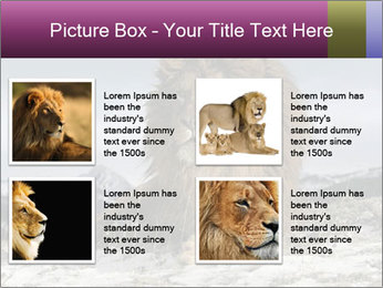 Lonely Lion PowerPoint Templates - Slide 14