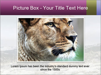 Lonely Lion PowerPoint Template - Slide 15