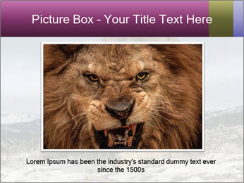 Lonely Lion PowerPoint Template - Slide 16