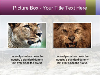 Lonely Lion PowerPoint Template - Slide 18