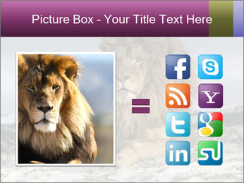 Lonely Lion PowerPoint Template - Slide 21