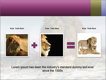 Lonely Lion PowerPoint Template - Slide 22