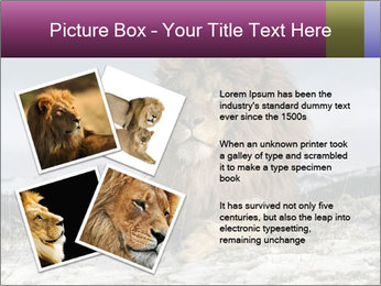 Lonely Lion PowerPoint Templates - Slide 23