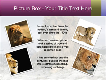 Lonely Lion PowerPoint Template - Slide 24