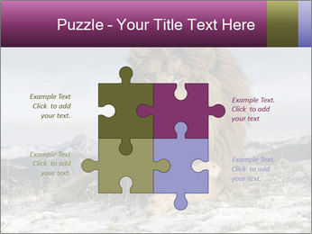 Lonely Lion PowerPoint Template - Slide 43