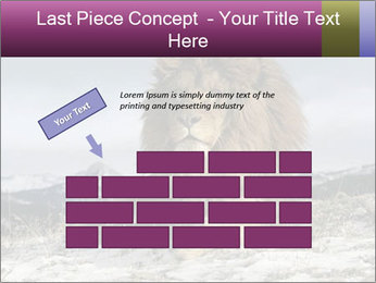 Lonely Lion PowerPoint Template - Slide 46