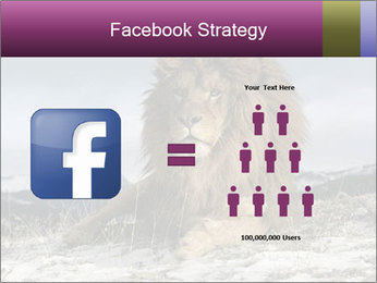 Lonely Lion PowerPoint Template - Slide 7