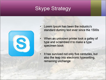 Lonely Lion PowerPoint Template - Slide 8