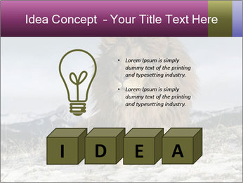 Lonely Lion PowerPoint Template - Slide 80