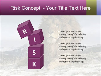 Lonely Lion PowerPoint Template - Slide 81