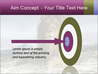 Lonely Lion PowerPoint Template - Slide 83
