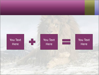 Lonely Lion PowerPoint Template - Slide 95