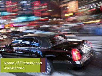 Speedy Black Car PowerPoint Template - Slide 1