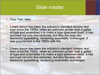 Speedy Black Car PowerPoint Template - Slide 2