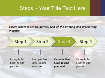 Speedy Black Car PowerPoint Template - Slide 4