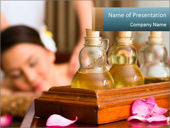 Aroma Oil Massage PowerPoint Template - Slide 1