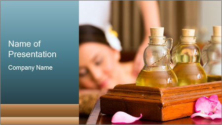 Aroma Oil Massage PowerPoint Template