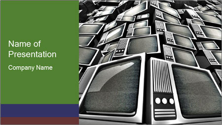 Pile Of Old Monitors PowerPoint Template