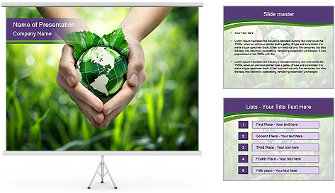 Take Care About Earth PowerPoint Template