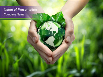 Take Care About Earth PowerPoint Template - Slide 1