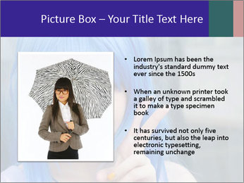 Girl With Blue Hair PowerPoint Template - Slide 13