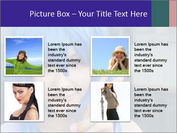 Girl With Blue Hair PowerPoint Template - Slide 14
