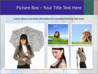 Girl With Blue Hair PowerPoint Template - Slide 19