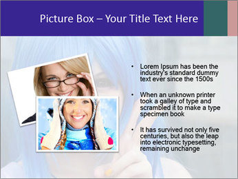 Girl With Blue Hair PowerPoint Template - Slide 20