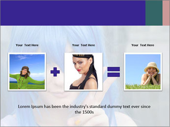 Girl With Blue Hair PowerPoint Template - Slide 22