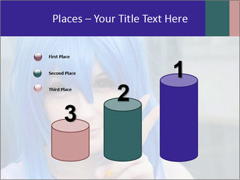Girl With Blue Hair PowerPoint Template - Slide 65