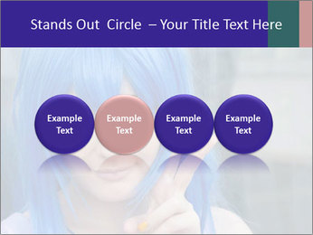Girl With Blue Hair PowerPoint Template - Slide 76