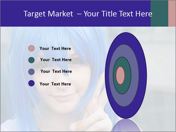 Girl With Blue Hair PowerPoint Template - Slide 84