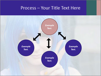 Girl With Blue Hair PowerPoint Template - Slide 91