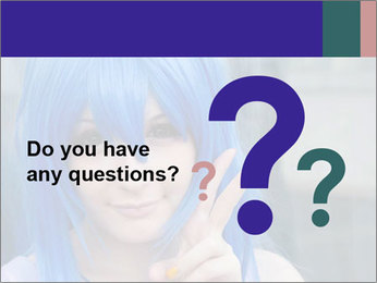 Girl With Blue Hair PowerPoint Template - Slide 96