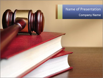 Law Books And Hummer PowerPoint Template - Slide 1