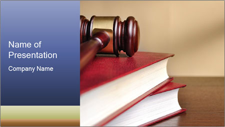 Law Books And Hummer PowerPoint Template