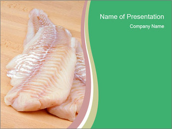 Fish Fillet PowerPoint Template - Slide 1