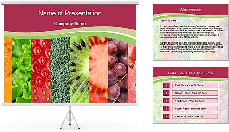 Fruits Collage PowerPoint Template
