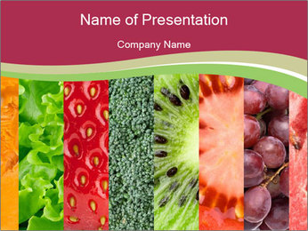 Fruits Collage PowerPoint Template - Slide 1
