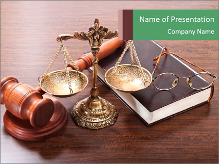 Justice Case PowerPoint Template