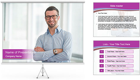 Elegant Man PowerPoint Template