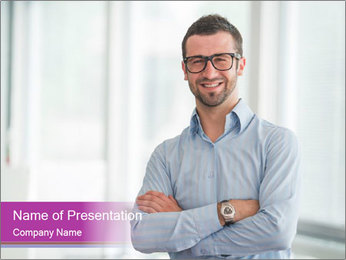Elegant Man PowerPoint Template - Slide 1