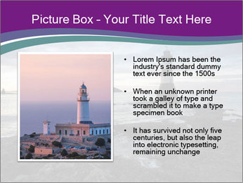 Seashore And Lighthouse PowerPoint Templates - Slide 13