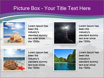 Seashore And Lighthouse PowerPoint Templates - Slide 14